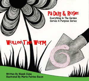 www.dr-nanaplum-amazingbooksforchildren.com Wollee The Worm loves the things we waste and bin!