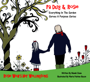 dr-nanaplum-amazingbooksforchildren.com Pa Dug & Rosie in the garden series. Lechlade Festival Plum Tree Books